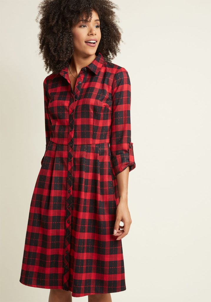MODCLOTH PLAID DRESS
