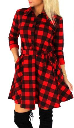 Walmart Plaid Dress